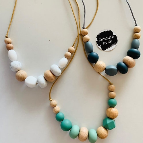 Silicon & Natural Wood Necklace