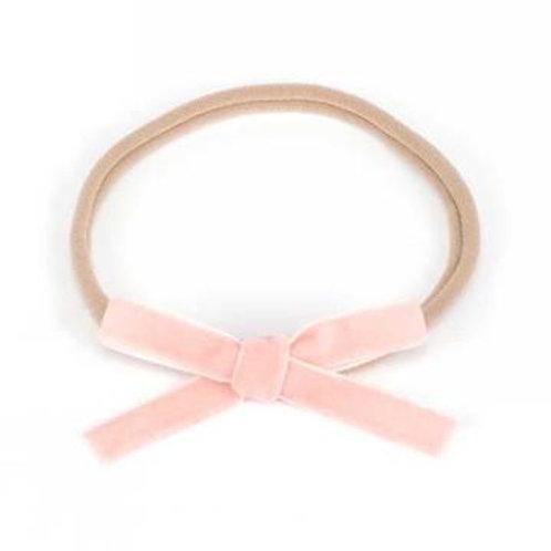 Petite Velvet Baby Bow - Pink