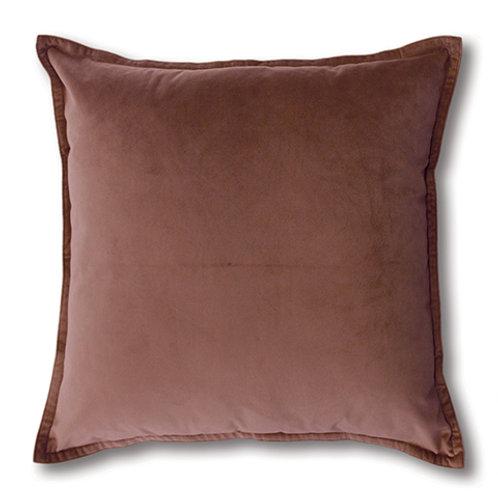Mira Velvet Cushion - Rose