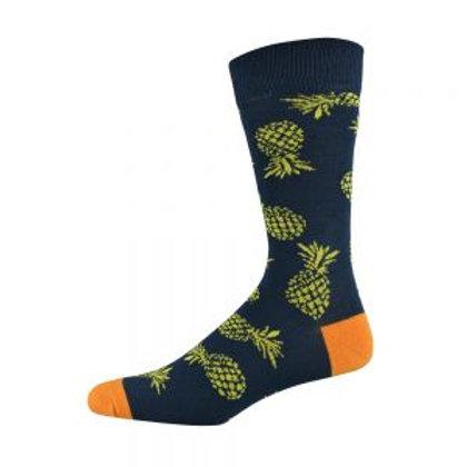 Mens Pineapple Bamboo Socks 7-11