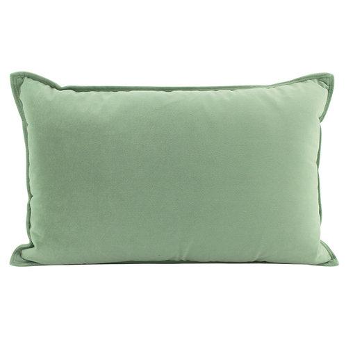 Velvet Oblong Cushion - Sage