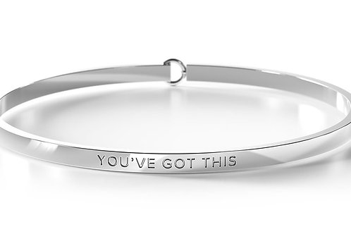 BE Bangle Silver  - You've got this