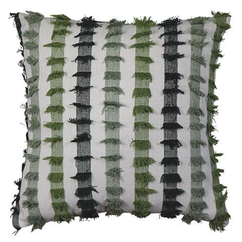 Brooke Green Fringe Cushion