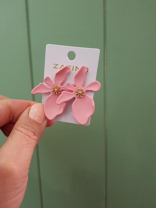 Large Orchid Earrings - Pink