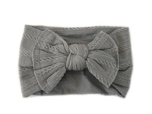 Knotted Headband - Light Grey