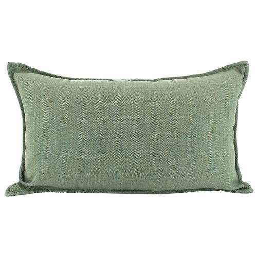 Oblong Linen Cushion - Sage