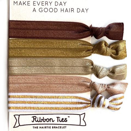 Ribbon Ties - Boho Bronzed