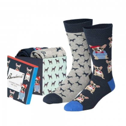 Mens 2 Pk Gift Boxed Frenchy Dogs 7-11