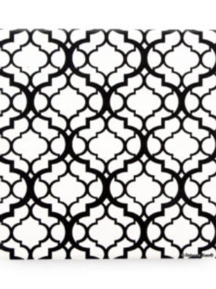 Thirsty Stone Coaster - Black Lattice