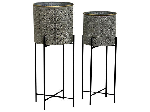 Metal Planter with Legs