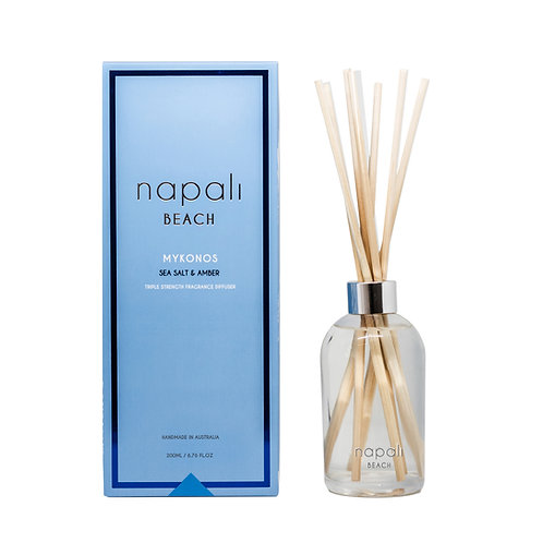 Napali Reed Diffuser -Mykonos - Sea Salt & Amber