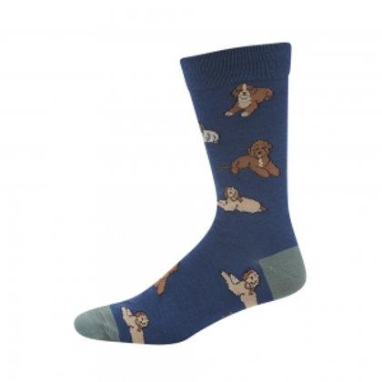 Mens Cavoodle Bamboo Socks 7-11