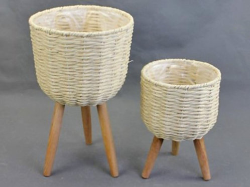 Paper Rope Planters with Legs