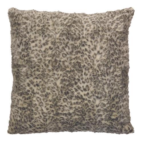 Snow Leopard Faux Fur Cushion