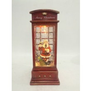 Christmas Lantern - Telephone Booth Santa