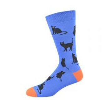 CLEARANCE Mens Black Cat Bamboo Socks 7-11