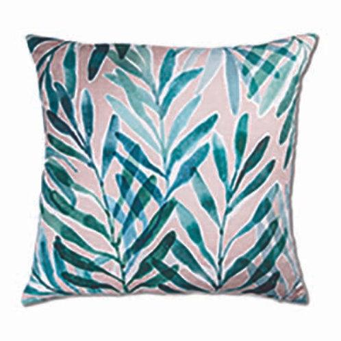 Palm Springs Blush Turquoise Cushion