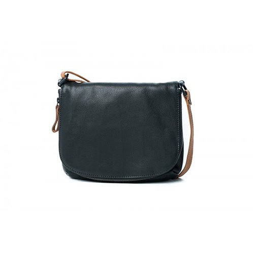 CLEARANCE Leather Holland Sling Bag - Black