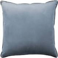 Clifton Glacier Velvet Piped Cushion