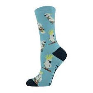 Ladies Cockatoo Bamboo Socks 2-8