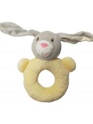 Bunny Rattle Ring - Yellow