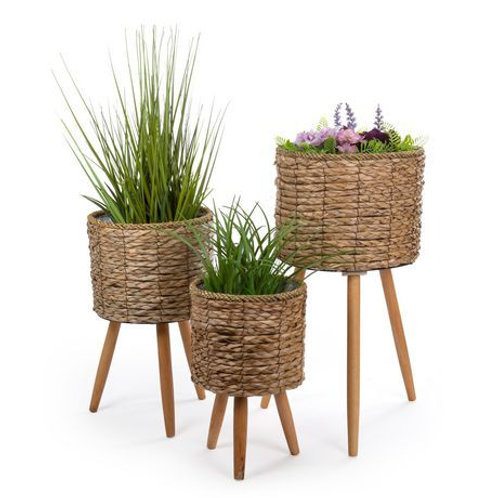 Cattail Planters with Legs