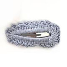 Crochet Clip Pk 2 - Smokey Blue
