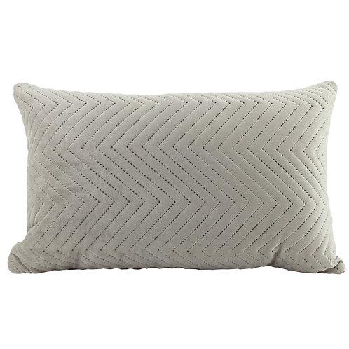 Velvet Oblong Quilted Cushion - Latte