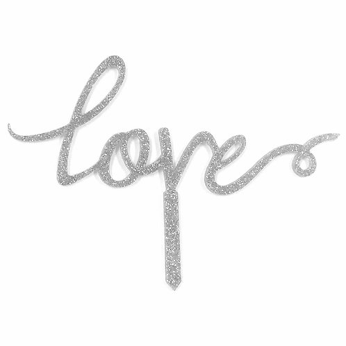 CLEARANCE Cake Topper - Love