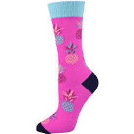 Ladies Pineapple Bamboo Socks 2-8