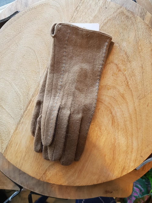 Wool Gloves - Camel