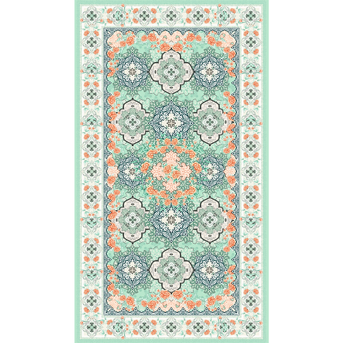 Large Sustainable Beach Towel - Moroccan Mint