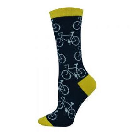 Ladies Cycle Notes Bamboo Socks 2-8