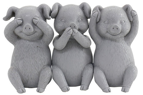 Set Hear/See/Speak Evil Piggies