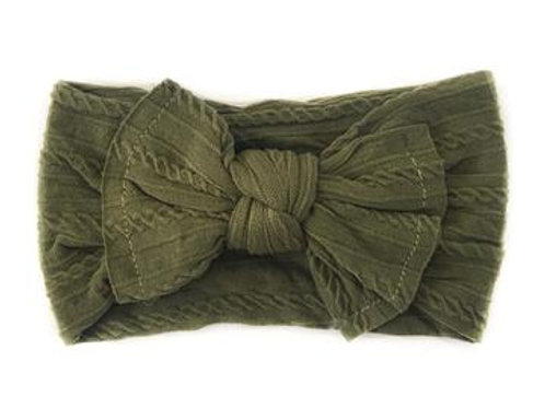Knotted Headband - Olive
