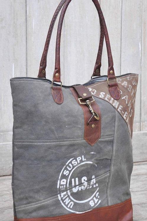 CLEARANCE Leather & Canvas USA Bag