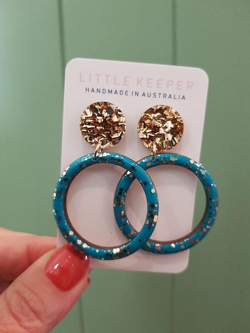 Little Keeper Inked Hooped Earrings