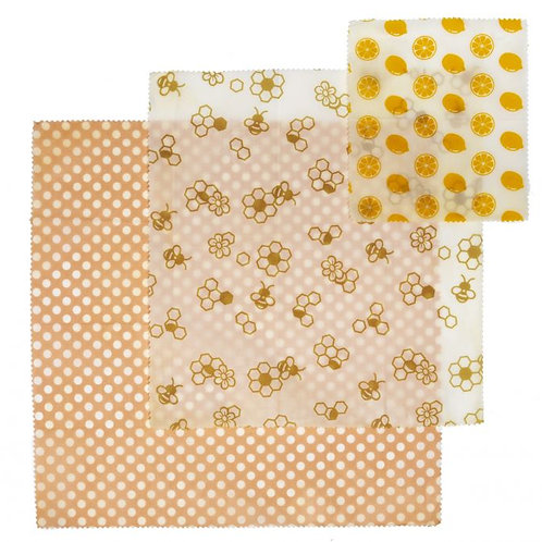 CLEARANCE Beeswax Wrap 3 pk