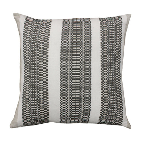 Cable Charcoal Stripe Cushion