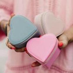 Heart Travel Jewellery Case
