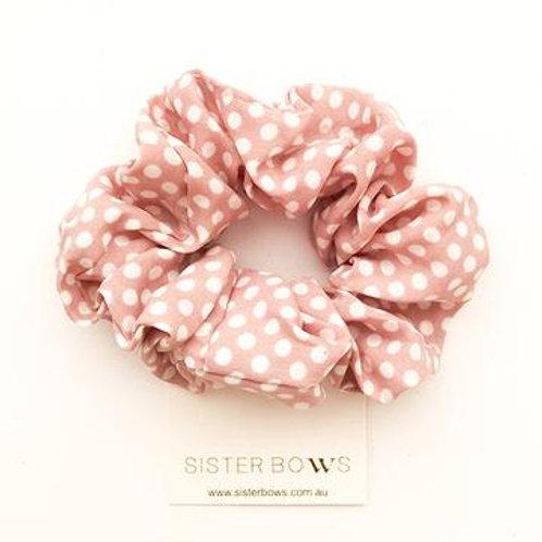 Scrunchie - Blush Polka Dot