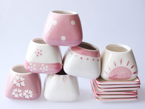 Ceramic Pink Pots