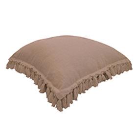 CLEARANCE Pink Fringe Cushion