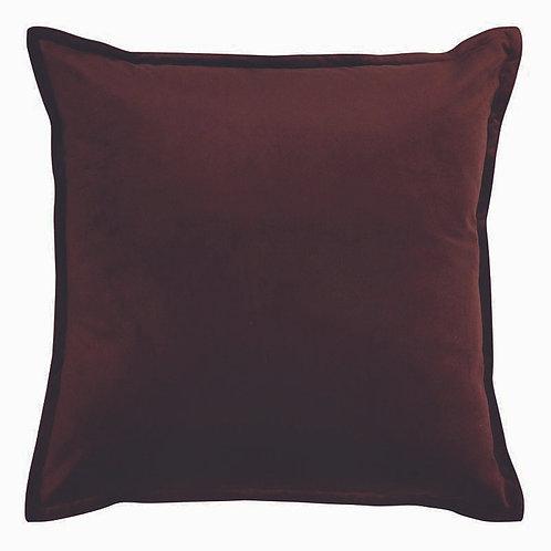 Mira Velvet Cushion - Wine