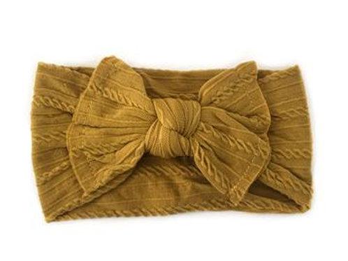 Knotted Headband - Mustard