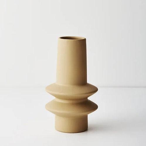 Lucena Vase 21.8cmx12.5cm - Mustard