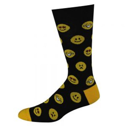 Mens Emoji Bamboo Socks 11-14