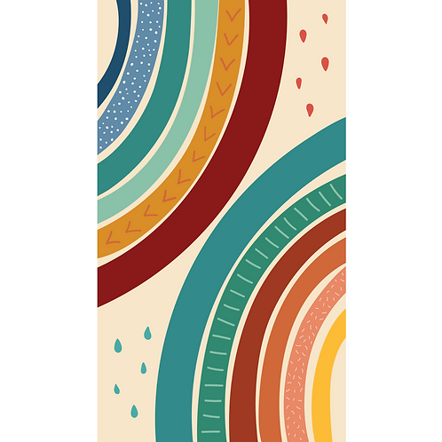 Large Sustainable Beach Towel - Rainbow