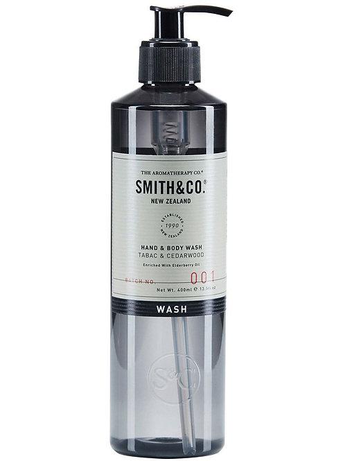 Smith & Co Hand + Body Wash - Tabac + Cedarwood