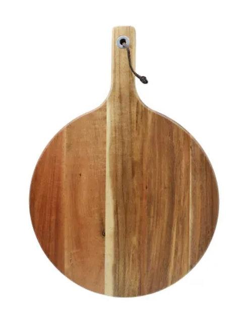 Acacia Round Paddle 28cmx 40cm